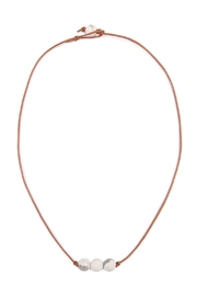 Riah Fashion Natural Stone Knot Necklace - Product Mini Image
