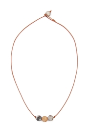 Riah Fashion Natural Stone Knot Necklace - Front cropped