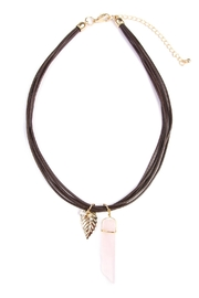 Riah Fashion Natural Stone Necklace - Product Mini Image