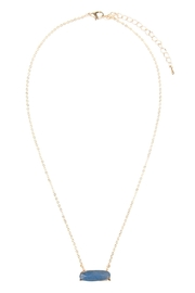 Riah Fashion Natural-Stone Oval Necklace - Front cropped