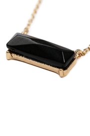 Riah Fashion Natural-Stone Rectangle Necklace - Front full body