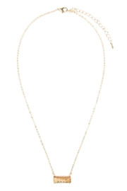 Riah Fashion Natural-Stone Rectangle Necklace - Front cropped