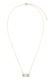Riah Fashion Natural-Stone Rectangle Necklace - Product Mini Image