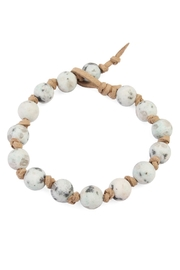 Riah Fashion Natural-Stone Suede Bracelet - Front cropped