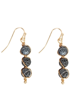 Shoptiques Product: Natural Stone Wired-Earrings