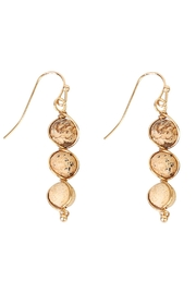 Riah Fashion Natural Stone Wired-Earrings - Front cropped