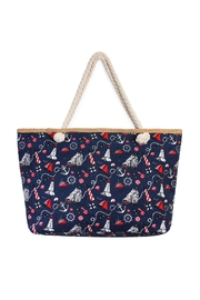 Riah Fashion Nautical Print Tote - Product Mini Image