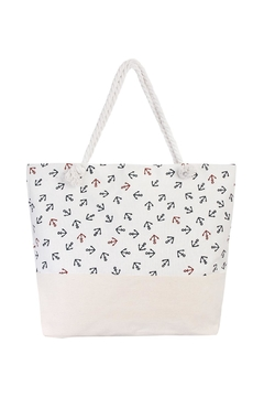 Shoptiques Product: Navy Red Anchor Tote
