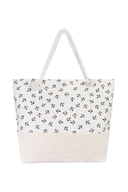 Riah Fashion Navy Red Anchor Tote - Product Mini Image