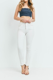 Riah Fashion Navy Top - Side cropped