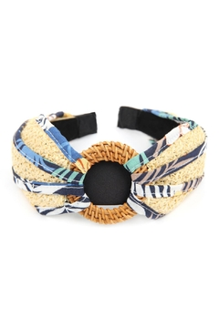 Shoptiques Product: Notted-Raffia With Fabric-Headband
