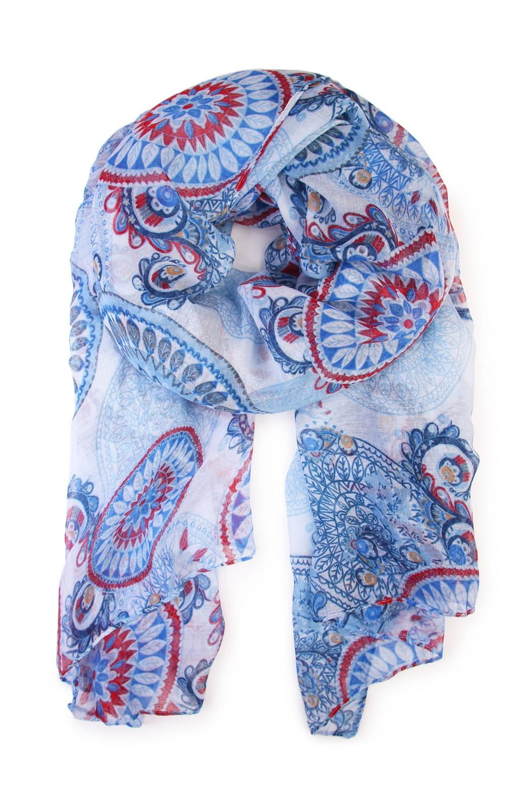 Riah Fashion Oblong Printed Scarf - Main Image