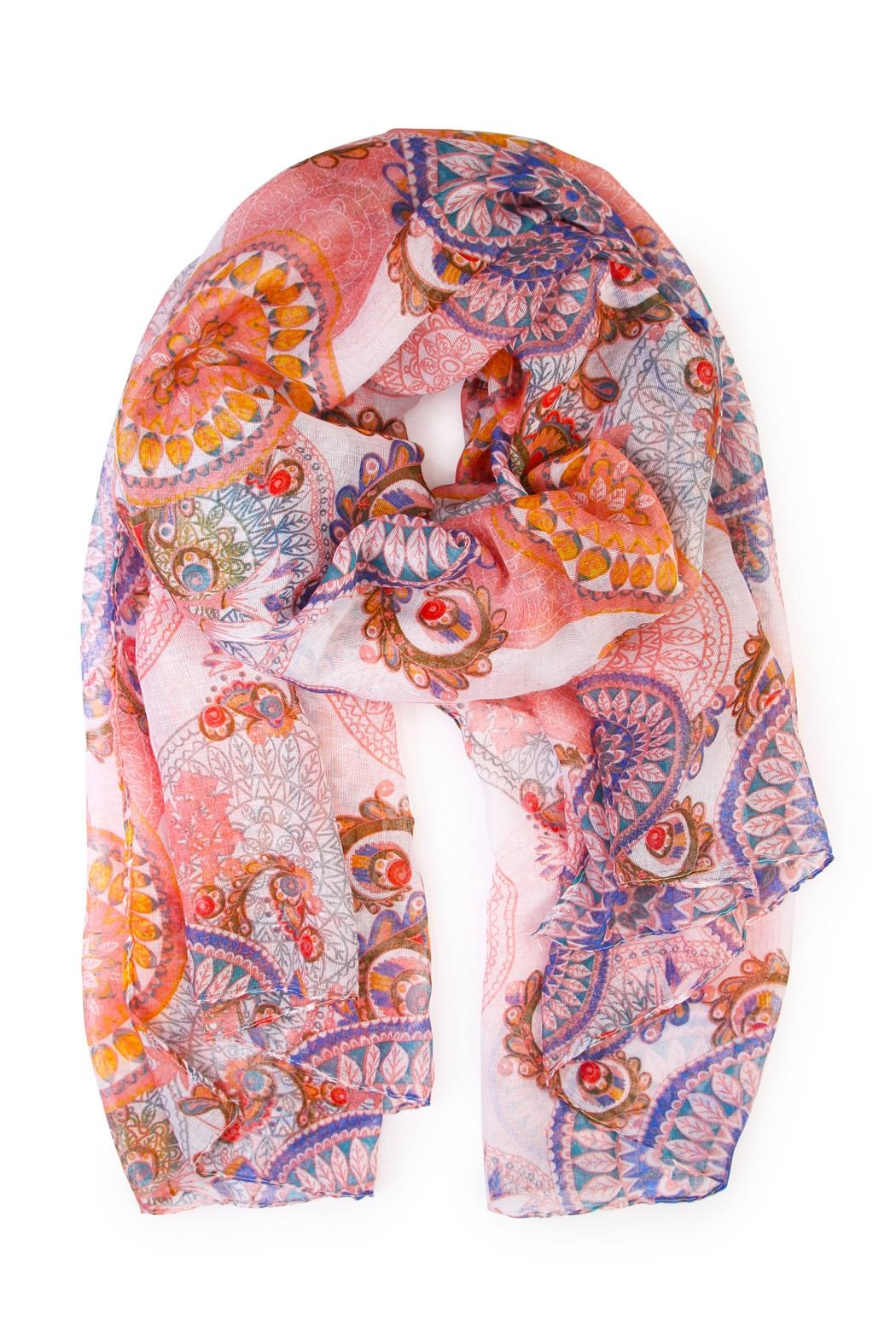 Riah Fashion Oblong Printed Scarf - Front Cropped Image