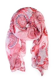 Riah Fashion Oblong Printed Scarf - Front cropped