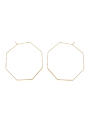 Riah Fashion Octagon-Shape Brass Earrings - Product Mini Image