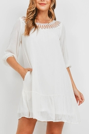 Riah Fashion Off White Dress - Front cropped