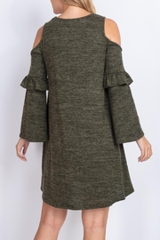 Riah Fashion Olive-Dress - Front cropped