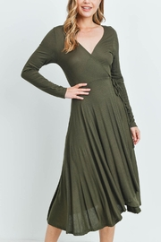 Riah Fashion Olive Dress - Front cropped