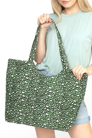 Riah Fashion Olive-Leopard-Print-Tote-Bag - Product Mini Image