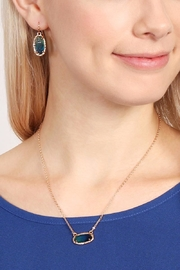 Riah Fashion Ombré Oval Pendant-Necklace - Side cropped