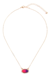 Riah Fashion Ombré Oval Pendant-Necklace - Product Mini Image