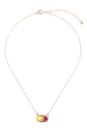 Riah Fashion Ombré Oval Pendant-Necklace - Front cropped
