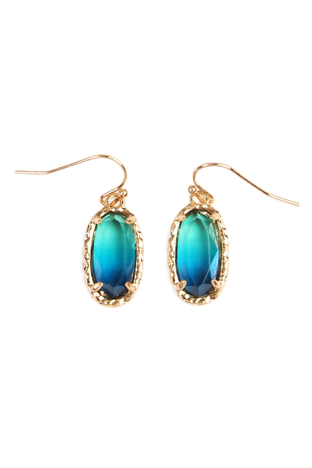 Riah Fashion Ombre Earrings - Front Cropped Image