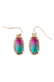 Riah Fashion Ombre Earrings - Front cropped