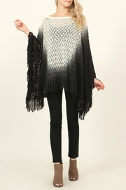 Riah Fashion Ombre Fringes Poncho - Product Mini Image