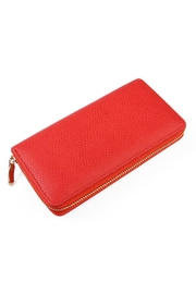 Riah Fashion Red Textured Wallet - Product Mini Image