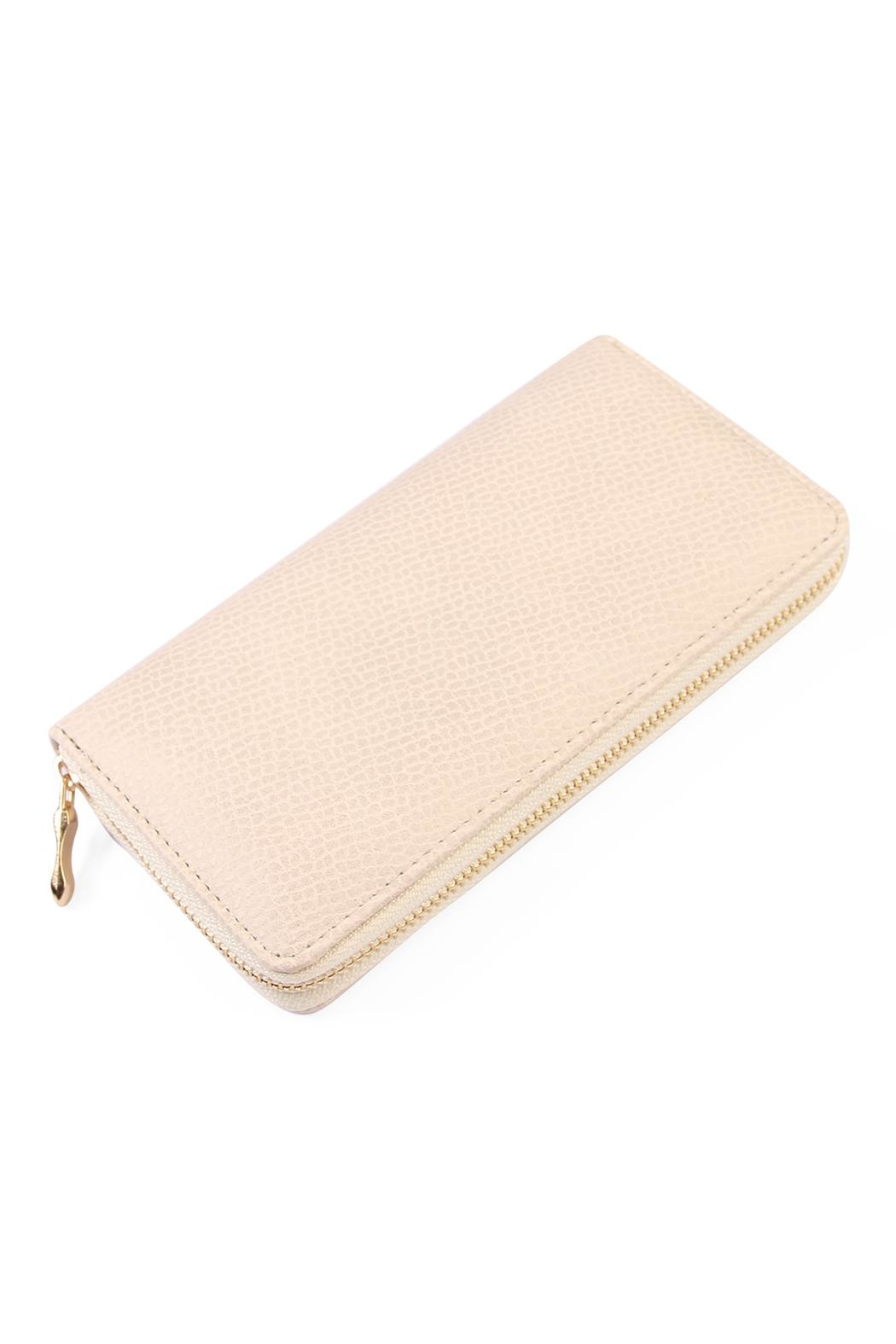 Riah Fashion White Textured Wallet - Main Image