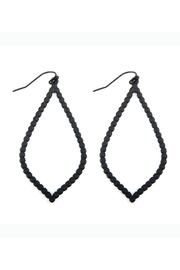 Riah Fashion Open Cast Marquise Drop Earrings - Product Mini Image