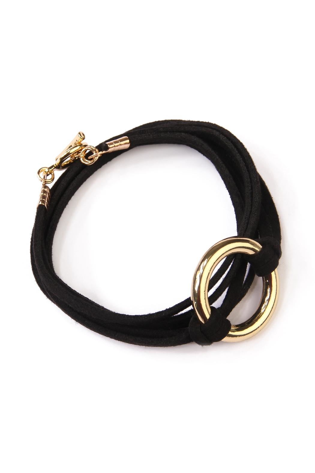 Riah Fashion Open Circle Bracelet - Main Image