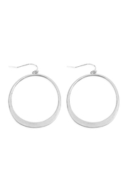 Riah Fashion Open Circle Drop Earrings - Product Mini Image