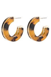 Riah Fashion Open-Circle Faceted Acetate-Earrings - Front cropped