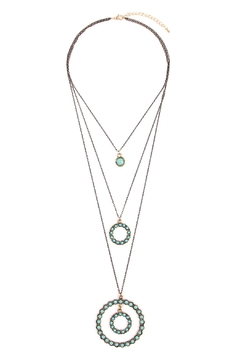 Shoptiques Product: Circle Layer Turquoise Necklace