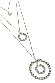 Riah Fashion Circle Layer Turquoise Necklace - Front full body