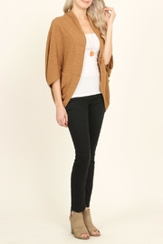 Riah Fashion Open Front Dolman Cardigan - Back cropped