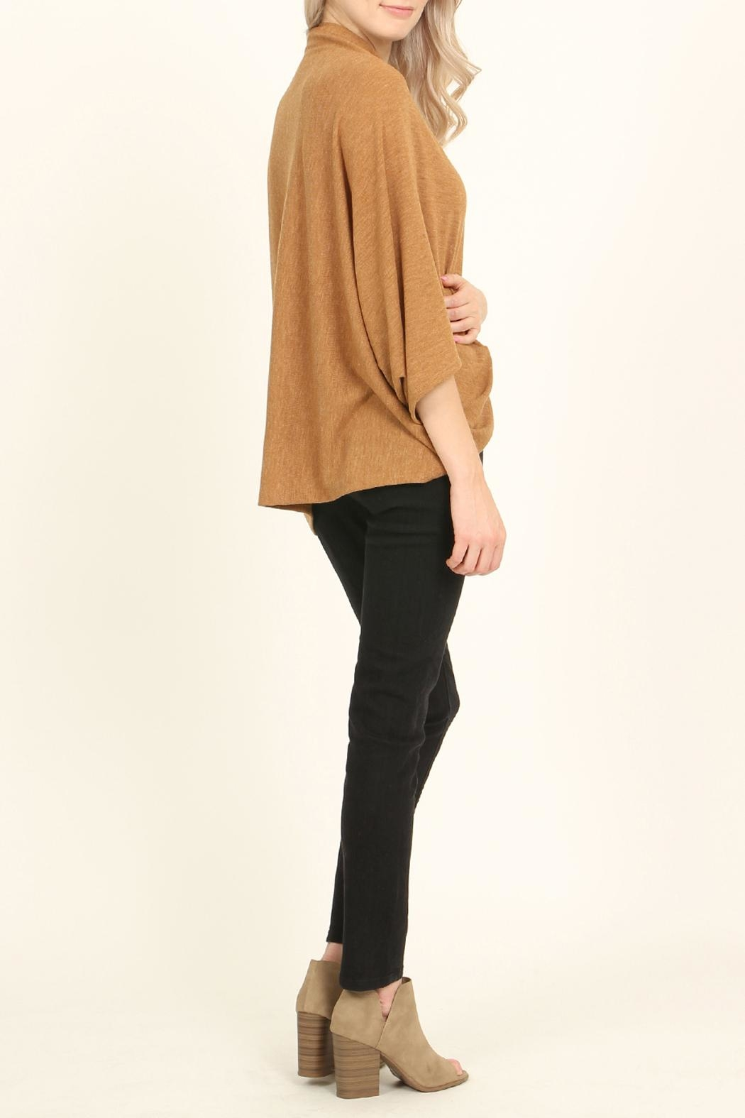 Riah Fashion Open Front Dolman Cardigan - Side Cropped Image