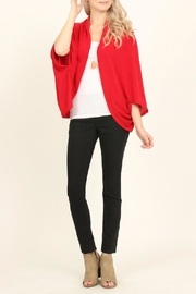 Riah Fashion Open Front Dolman Cardigan - Front full body