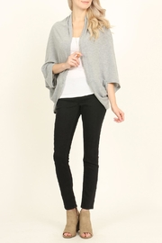 Riah Fashion Open Front Dolman Cardigan - Side cropped