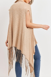 Riah Fashion Open-Front Fringe-Tassel Kimono-Vest - Front full body