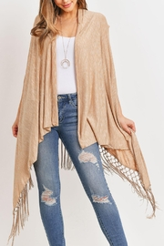 Riah Fashion Open-Front Fringe-Tassel Kimono-Vest - Product Mini Image