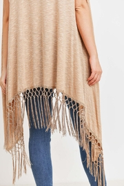 Riah Fashion Open-Front Fringe-Tassel Kimono-Vest - Other