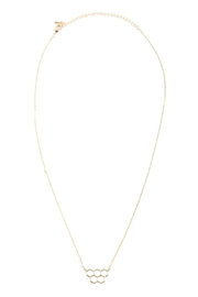 Riah Fashion Open Honeycomb-Pendant-Necklace - Front full body