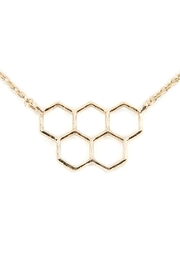 Riah Fashion Open Honeycomb-Pendant-Necklace - Front cropped