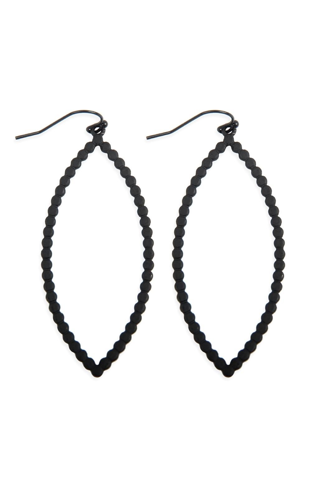 Riah Fashion Open Marquise Cast-Drop-Hook-Earrings - Front Cropped Image
