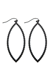 Riah Fashion Open Marquise Cast-Drop-Hook-Earrings - Product Mini Image
