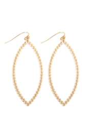 Riah Fashion Open Marquise Cast-Drop-Hook-Earrings - Front cropped