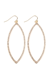 Riah Fashion Open Marquise Shape Pave Earrings - Product Mini Image